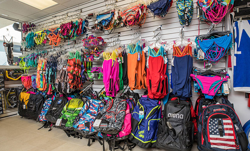 Swim Shop at the Coral Springs Aquatic Center - Swim Bags, masks, towels and snorkel breathing gear