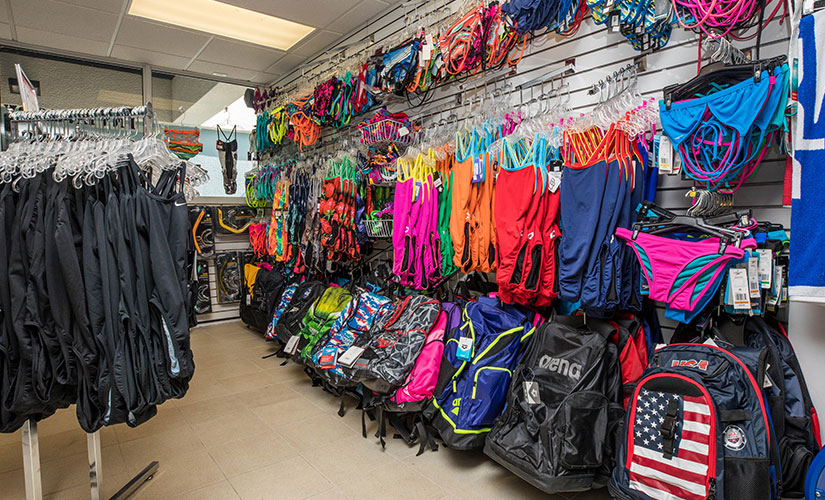 Swim Shop at the Coral Springs Aquatic Center - Swim Bags, masks and snorkel breathing gear